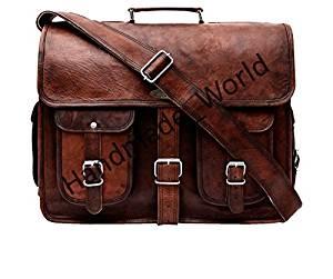 Handmade World Leather Messenger Bag 16 inch