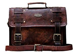 Handmade World Leather Messenger Bag 18 inch