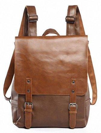 Kenox Vintage PU Leather Laptop Backpack