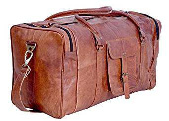 138e7e131162 ... bags Komal s Passion Leather 21 inch Vintage Duffel Bag
