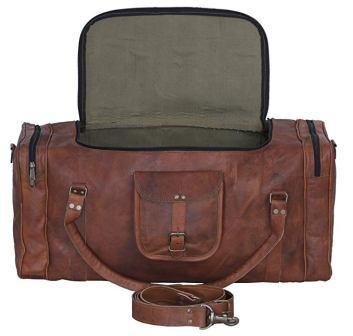 ... Komal s Passion Leather 24 inch U Zip Leather Duffel Bag b9e1d6abc9688