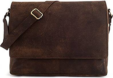 Leabags Oxford Genuine Leather Messenger Bag