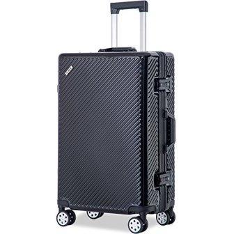 Merax Flieks Aluminum Frame Luggage TSA Approved Suitcase