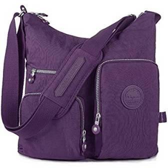d2049562f5c1 ... Oakarbo Nylon Multi-Pocket Crossbody Bag