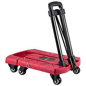 Furniture Mini Folding Aluminium Alloy Heavy Duty Luggage Trolley Portable Family Travel Shopping Small Trolley Case Cart Commercial Furniture