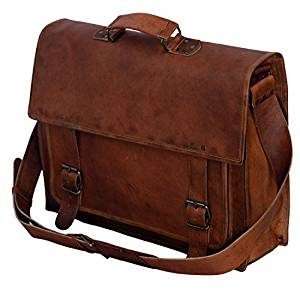 Komal designed the PL 18 PL 18 Inch Vintage Handmade Leather Messenger Bag  for Laptop Briefcase Satchel Bag