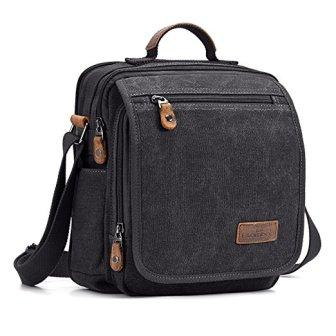 ab48aa26cc It has 2 main Plambag Canvas Messenger Bag Small Travel School Crossbody Bag