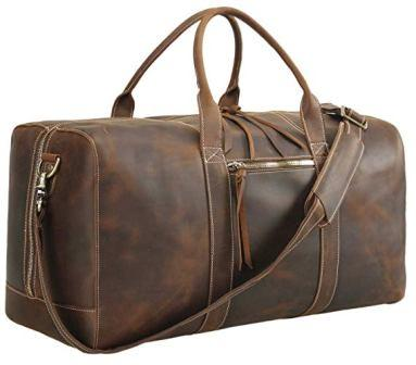 ddb2ca887ef8 ... especially leather Polare Genuine Leather Weekender Duffel Bag
