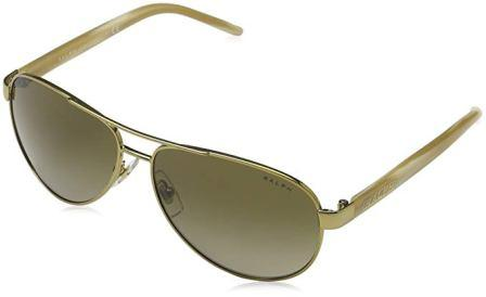 35cd1898ee ... Ralph 4004 101-13 Gold and Cream 4004 Aviator Sunglasses Lens Category 2