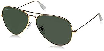 Ray-Ban 3025 Aviator Metal Non-Mirrored Non-Polarized Sunglasses