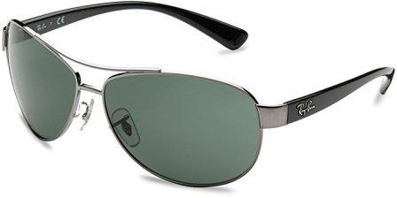 Ray-Ban Men's Rb3386 Aviator Sunglasses, Gunmetal, 67 mm