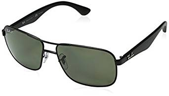 31fbf90341 These sunglasses combine versatility with Ray-Ban Polarized RB3516  Sunglasses - Matte Black Frame Green Lens