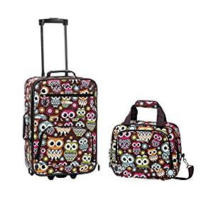 Rockland Luggage 2 Piece Set, Owl
