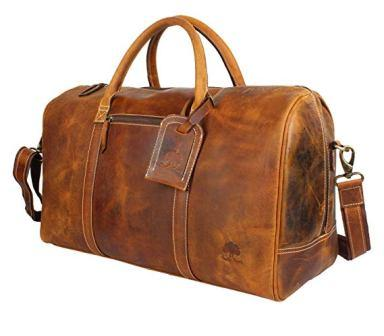 a44df8cc4bb1 ... Rustic Town Leather Carry On Duffel Bag