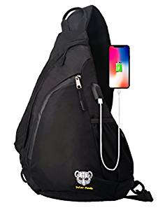 d18366f9567 ... Sling Bag Chest Shoulder Backpack Crossbody Bags for Men Women Travel  Outdoors