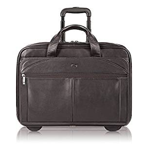 ... Solo Walker 15.6-Inch Premium Leather Rolling Laptop Case 170d901cebfae