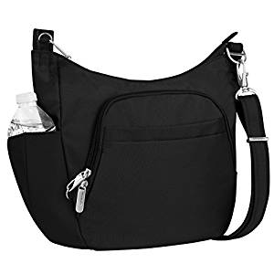 6733e30a7 ... Travelon Anti-Theft Cross-Body Bucket Bag, Black, One Size