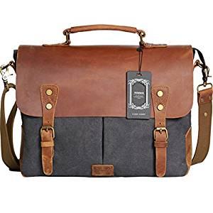 Wowbox Real Leather Messenger Bag