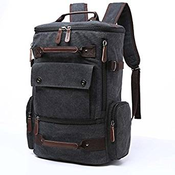 6cc2e85151c8 Yousu Canvas Backpack Fashion Travel Backpack School Rucksack Casual  Vintage Daypack