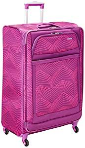 2e3725c86d American Tourister Ilite Max Softside Spinner 29, Pink/Purple Stripes