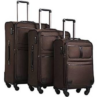 Coolife Luggage Expandable Suitcase Spinner Softshell TSA Lock Carry On 20in24in28in