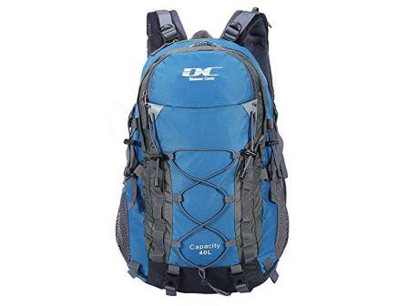 Diamond Candy 40L Waterproof Hiking Backpack with Rain Cover