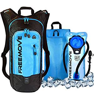 Hydration Pack Backpack with 2L Water Bladder & Cooler Bag KEEPS DRINK COOL | Lightweight – Fully Adjustable – Leakproof | Multiple Compartments | 6L Capacity | Camel Pack For Sports Enthusiast