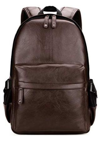 Men/'s Vintage PU Leather Backpack School Bags Tote Travel Backpack Laptop