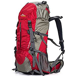 Loowoko 50L Waterproof Hiking Backpack with Rain Cover