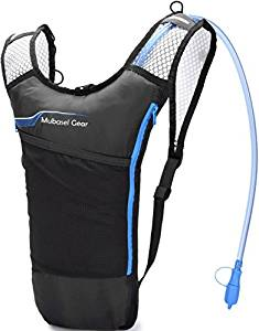 Mubasel Gear Hydration Backpack Pack With 2L BPA FREE Bladder – Lightweight Pack Keeps Liquid Cool Up to 4 Hours – Great Storage Compartments – Outdoor Sports Gear for Running Hiking Cycling Skiing