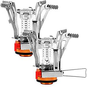REEHUT Ultralight Portable Camping Stove Backpacking Stoves with Piezo