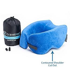 Travelrest – Therapeutic Memory Foam Travel & Neck Pillow