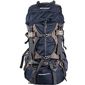 WASING 55L Internal Frame Hiking Backpack