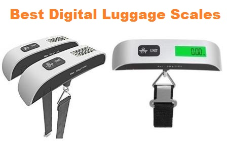4 Pack Digital Luggage Scale LCD Display Backlight Temperature Sensor Hanging Scale with Tare Function and 110lb//50kg Capacity for travel suitcase