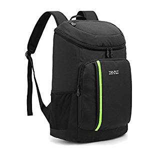 Insulated Cooler Backpack from TOURIT, Lightweight Backpack with Cooler, 21 Cans, Leak-proof Soft Cooler Bag
