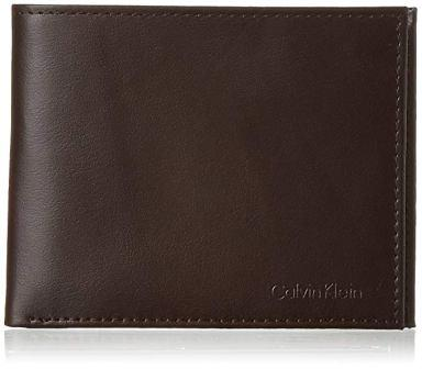 Calvin Klein Men RFID Blocking Leather Bifold Wallet