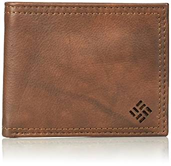 Columbia Men's Leather Extra Capacity Slimfold Wallet