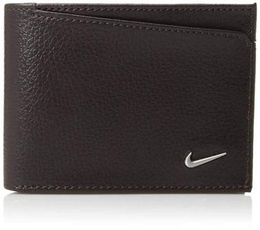 Nike Men Leather Billfold Bifold Wallet