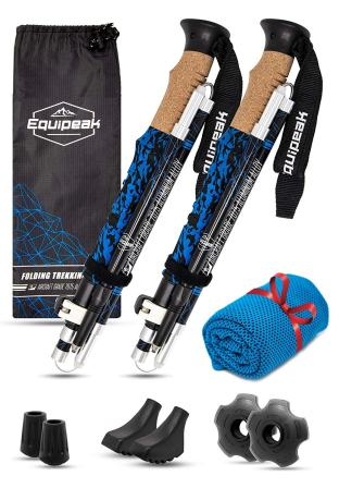 Equipeak – Collapsible Folding Hiking & Trekking Sticks