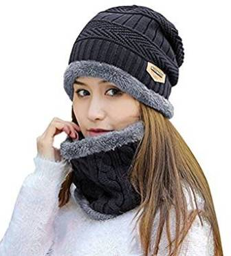 f0c5cf02139 ... HINDAWI Womens Slouchy Beanie Winter Hat Knit Warm Snow Ski Skull Cap