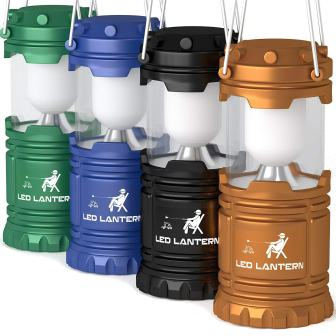 MalloMe LED Camping Lantern Flashlights 4 Pack