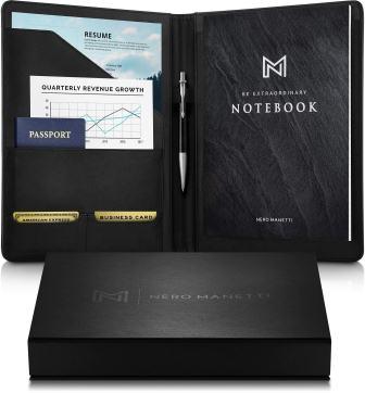 NERO MANETTI Leather Portfolio Folder
