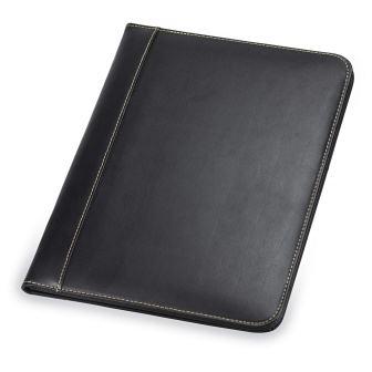 Samsill Contrast Stitch Leather Padfolio Portfolio