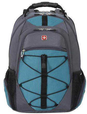 Swiss Gear SA6799 Gray with Teal TSA Friendly ScanSmart Laptop Backpack