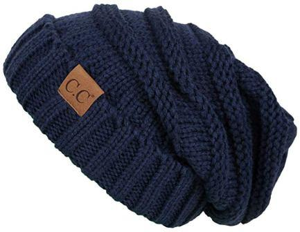 ... Funky Junque C.C. Trendy Warm Oversized Chunky Soft Oversized Cable  Knit Slouchy Beanie 48f8c26f3332