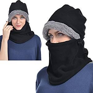 b8af9d0ea4f4a7 ... UShake Balaclava Fleece Hood for Men or Women, Heavy Fleece Unisex  Balaclavas, Ski Face