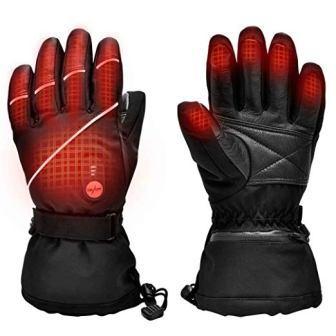 Upgraded Heated Gloves for Men Women, Electric Ski Motorcycle Snow Mitten Glove Arthritis