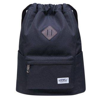 Drawstring Sports Backpack Lightweight Gym Yoga Sackpack Shoulder Rucksack