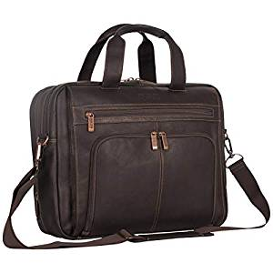 Kenneth Cole Reaction Leather Top Zipper Laptop Computer Briefcase Business Bag