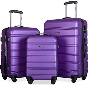 Merax 3 Piece Expandable Luggage Set with TSA Lock